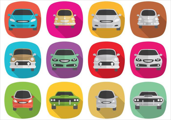 Long Shadow Car Icons