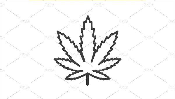 Marijuana Leaf Clover Icon