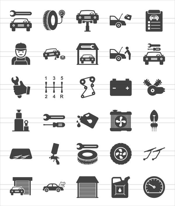 Mechanic Car Icons