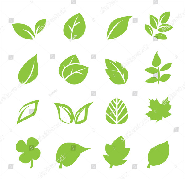 Organic Leaf Icons Set