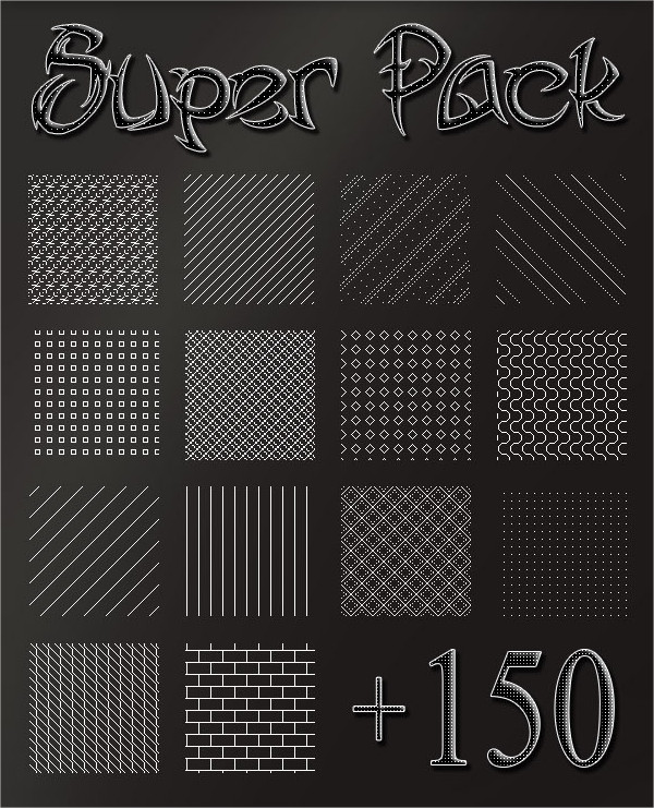 Pack 150 Pixel Patterns And Lines
