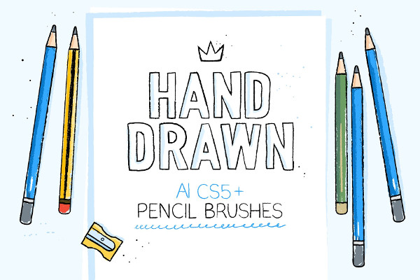Pencil Hand Drawn Brushes
