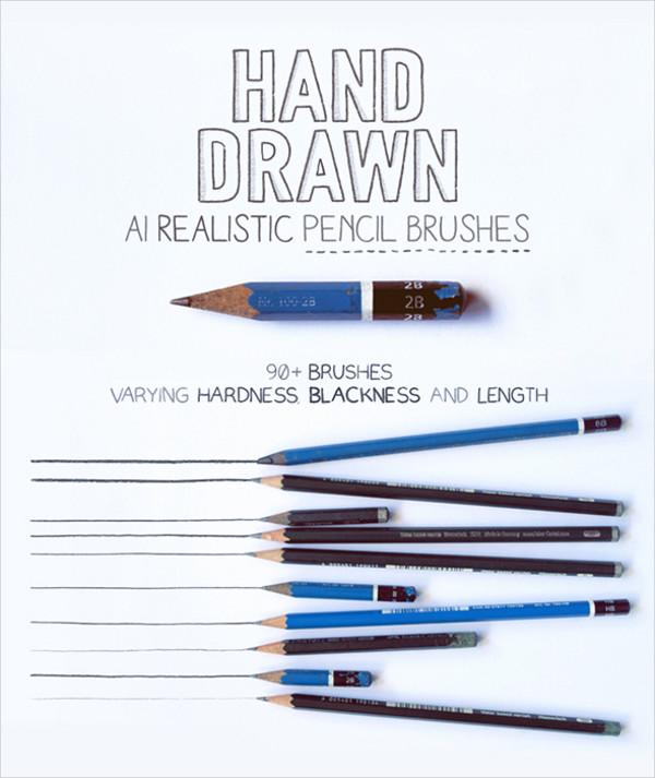 Pencil Paint Brushes