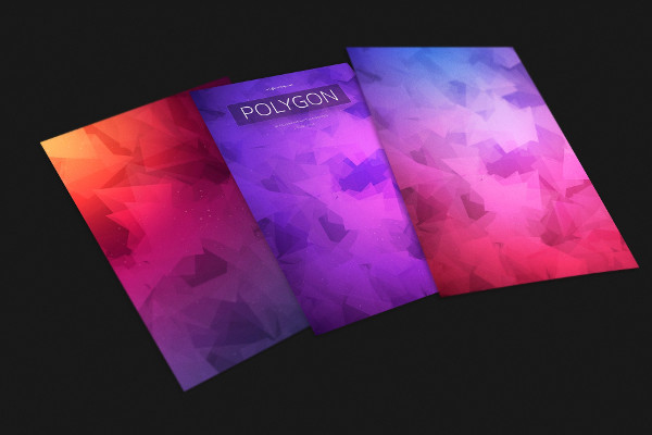 Polygon Colorful Background