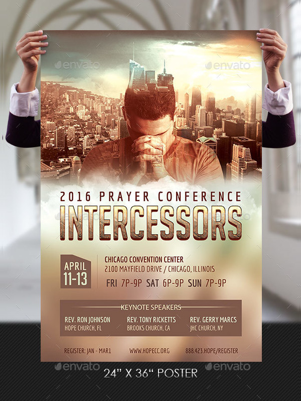 Prayer Conference Flyer Poster Template