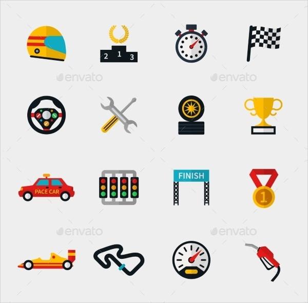 Race Car Icons