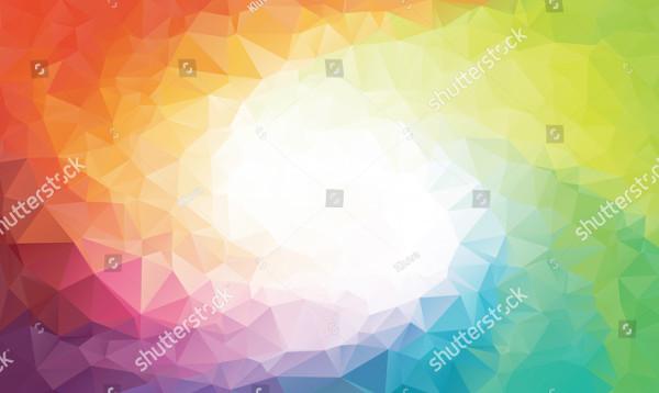 Rainbow Polygon Background