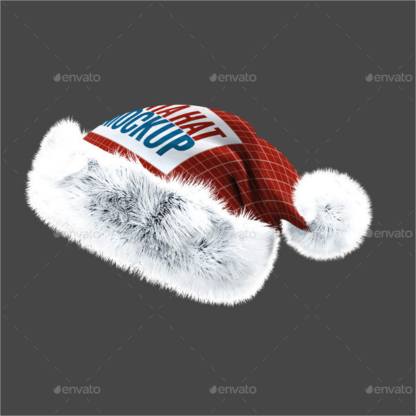 Santa Hat Mock-up Templates