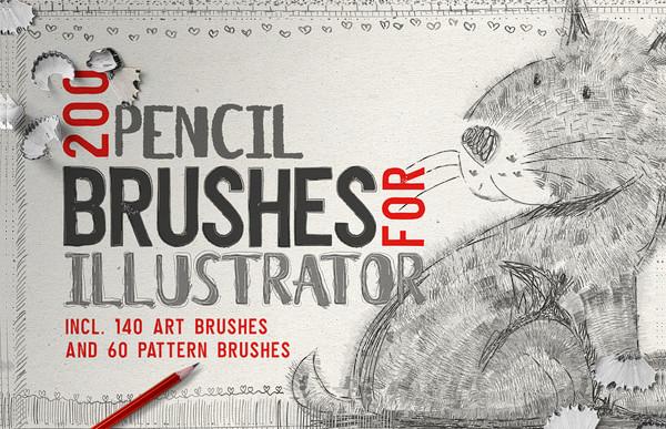 Simple Pencil Brush For Illustrator