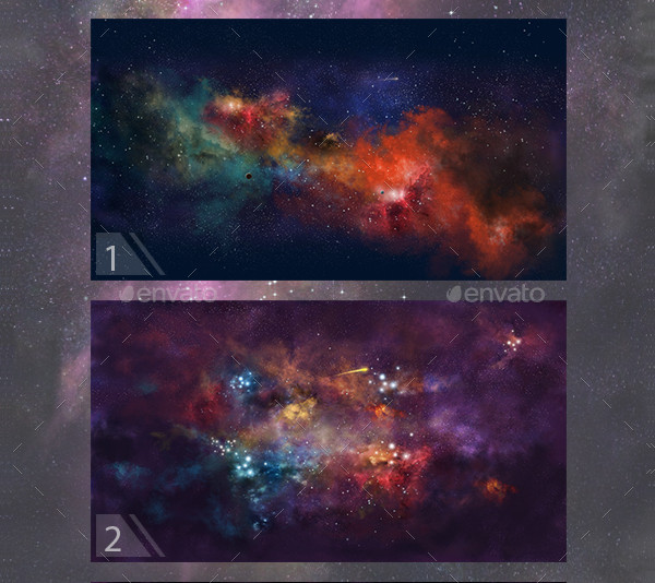 Space Backgrounds Illustrations