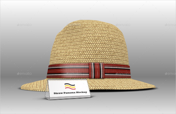 Straw Panama Hat Mock-up Templates