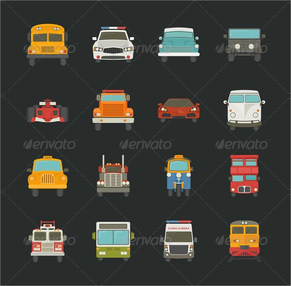 Transport Car Icons