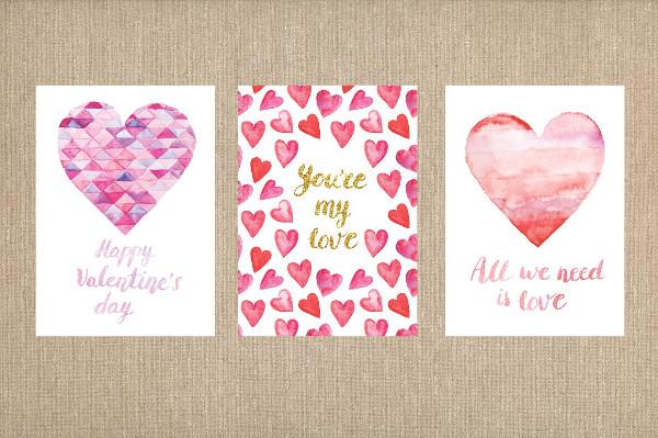 Valentines Day Birthday Greeting Card