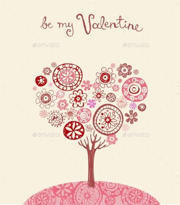Valentines Day Design Greeting Card