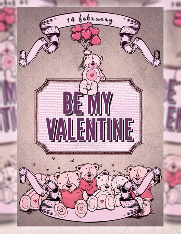 Valentines Day Greeting Cards With Teddy Bears