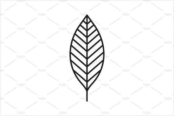 Walnut Leaf Linear Icon