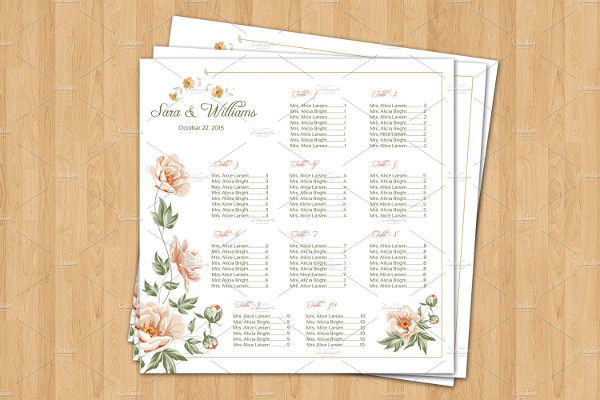 11 Wedding Seating Chart Templates Free Vector Psd Ai Eps Format