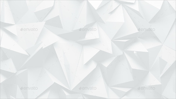 White Polygon Background Template