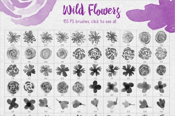 Wild Flowers PS Brushes
