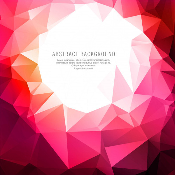 Polygonal Free Vector Background