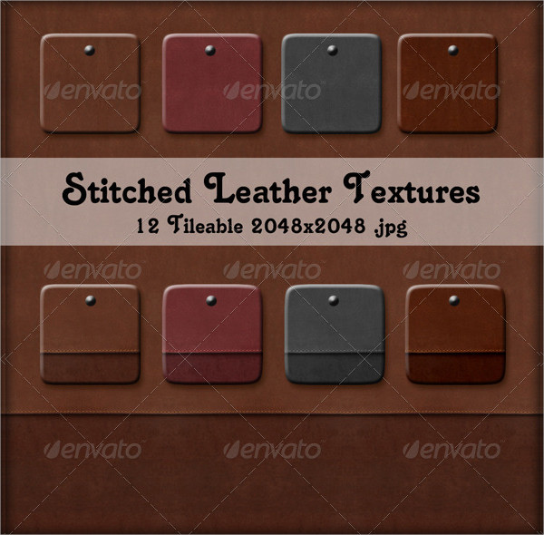 Stitched Leather Texture Designs