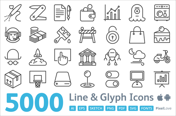 5000 iOS and Android Icons