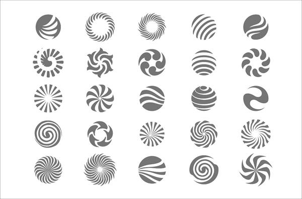 Abstract Circle Symbols