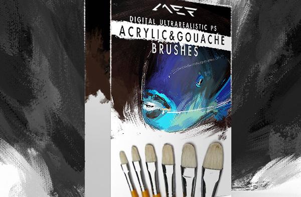 Acrylic Photoshop Brushes