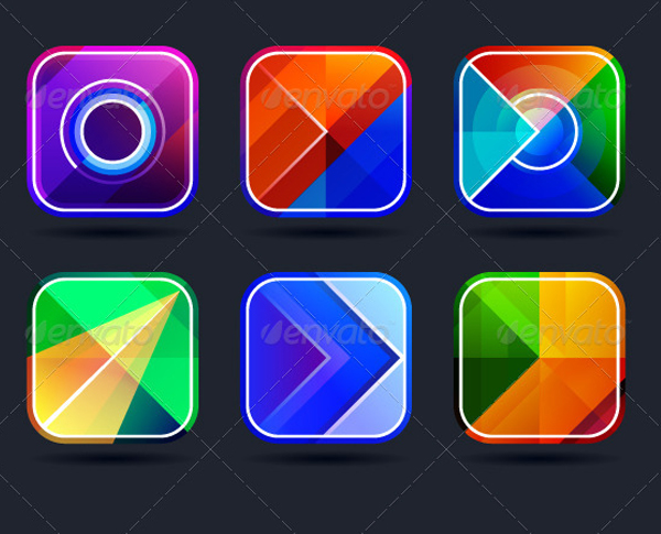 App Abstract Icons Frame