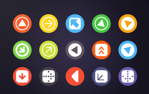 Arrow Android Icon Templates
