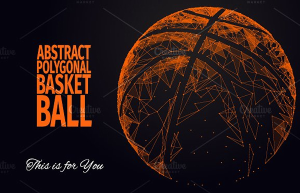Basketball Abstract Icon Template
