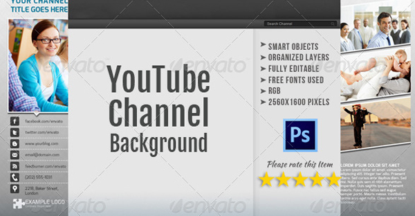Best Corporate Youtube Channel Background Template