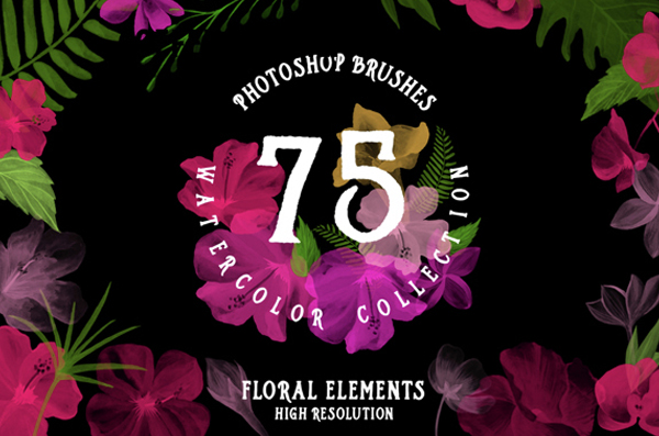 Best Floral Photoshop Watercolor Brushes Collection
