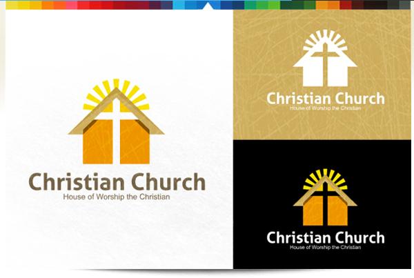Christian Church Building Logo Design