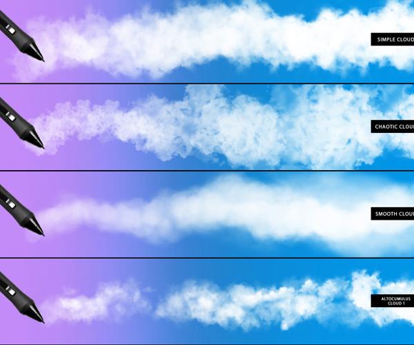 Clouds, Fog & Smoke Photoshop Brushes