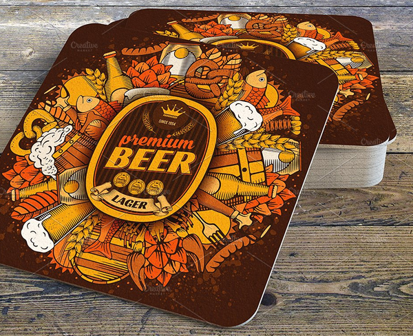Coaster Pub Menu Templates