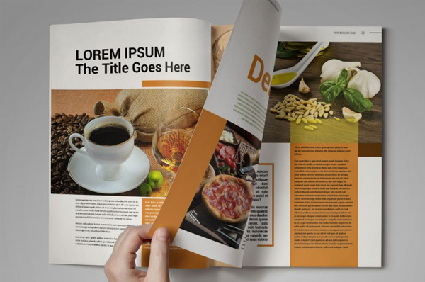 Cookbook Magazine Template