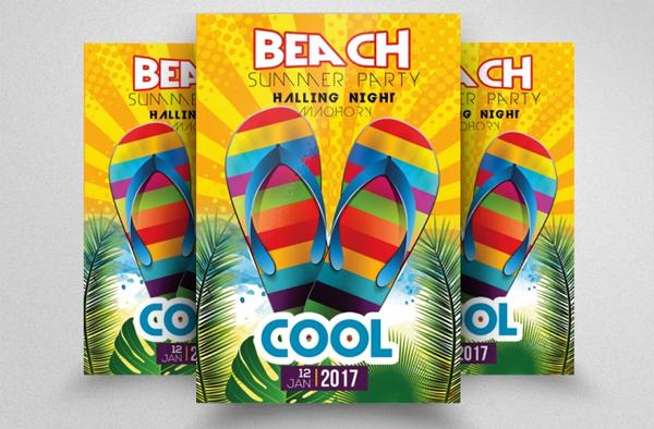 Cool Beach party Flyer Design