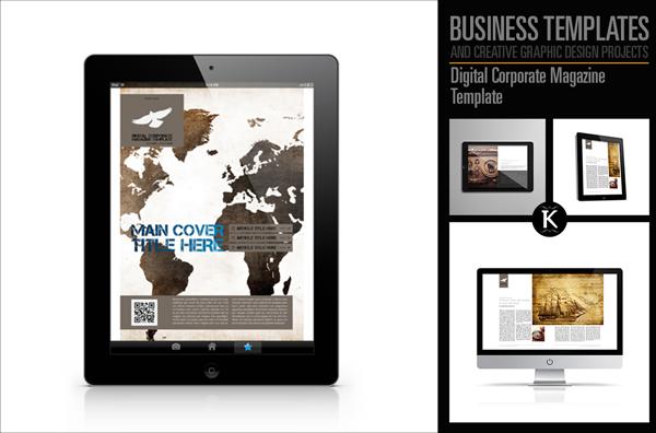Corporate Minimal Magazine Template