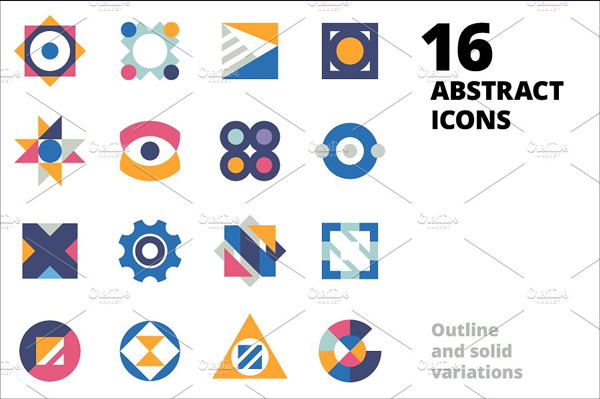 Creative Abstract Icons
