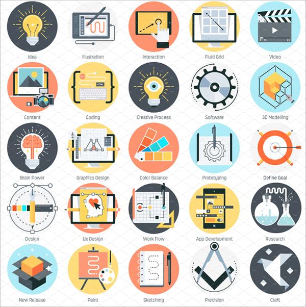 Creative Design Abstract Icon Set