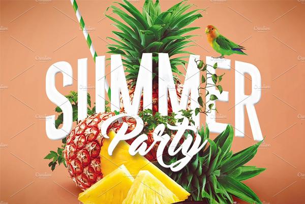 Creative Summer Beach Party PSD Flyer Template
