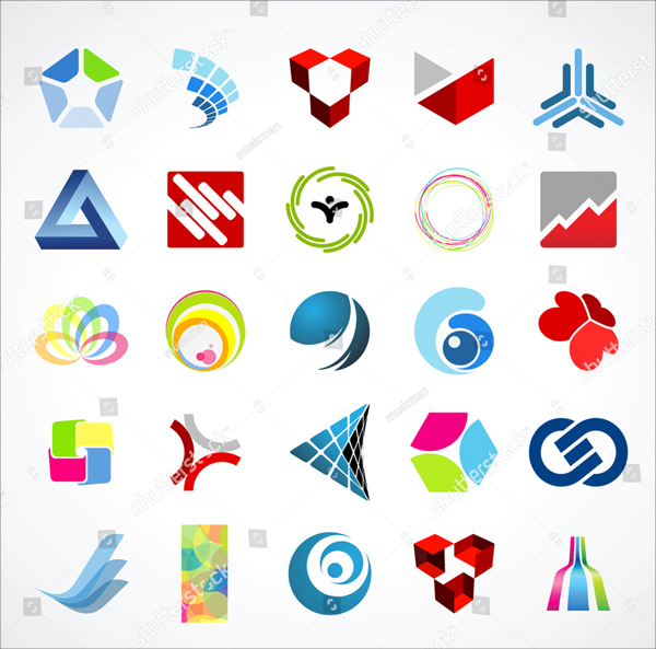 Design Abstract Icons Set