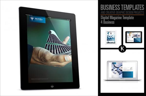 Digital Business Minimal Magazine Template