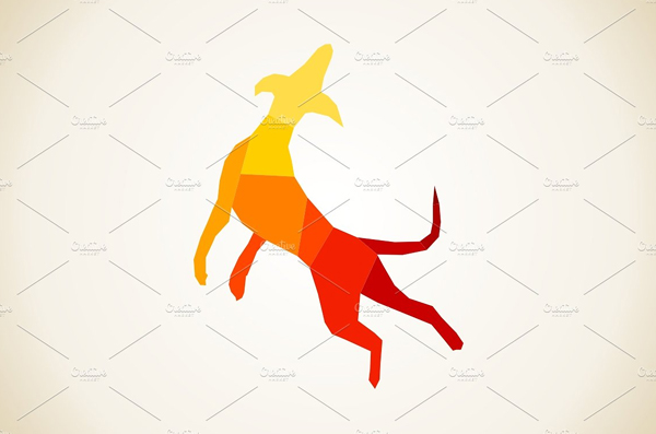 Dog Abstract Icon Template