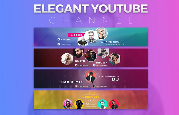 Elegant Youtube Channel Background Templates