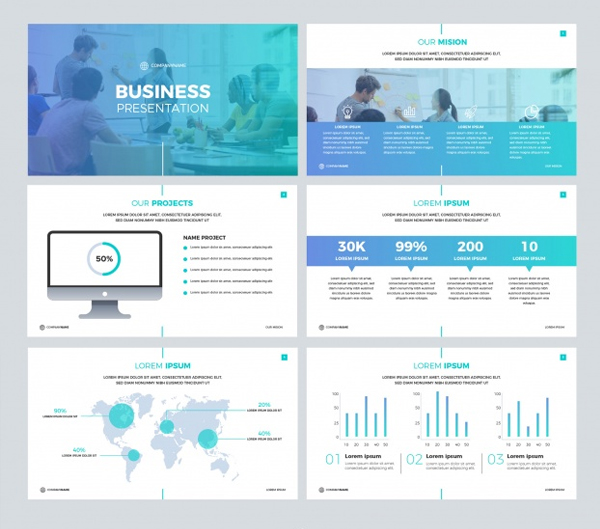 Free Download Business presentation Template