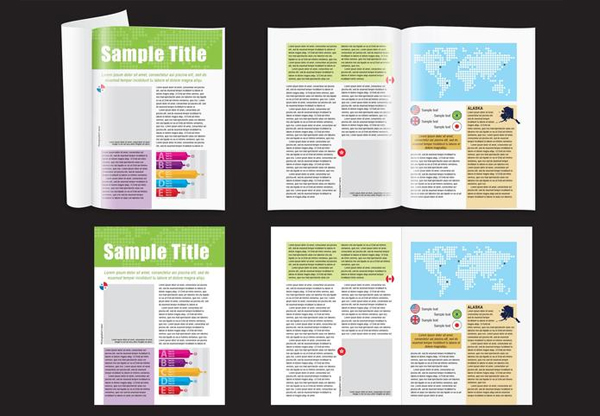 Free Download Map Layout Minimal Magazine