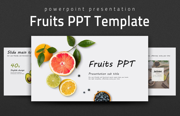Fruits PowerPoint Presentation Template