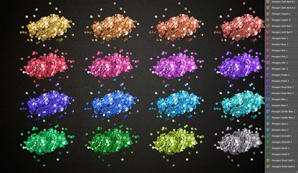Glitter Pro Styles Photoshop Actions and Brushes
